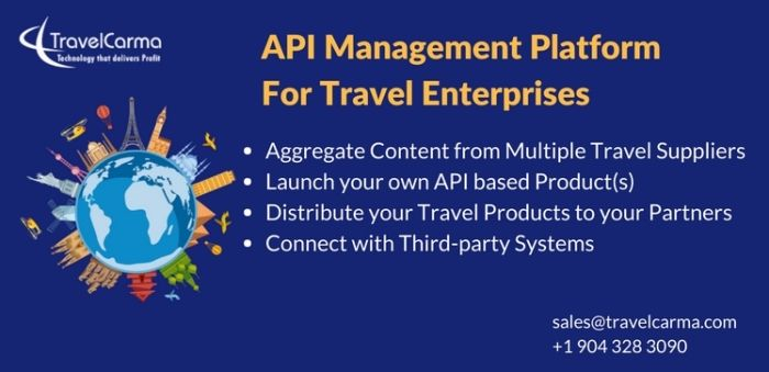 TravelCarma's API Platform allows travel firms to aggregate inventory from multiple third party suppliers and distribute it to their sub-agents and partners through a single API.