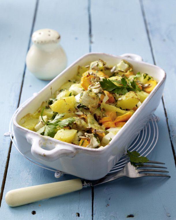 Unser beliebtes Rezept für Mairübchen-Kartoffel-Auflauf mit Appenzellersoße und mehr als 55.000 weitere kostenlose Rezepte auf LECKER.de.