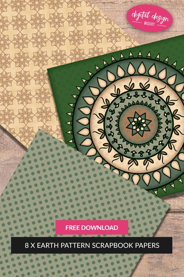 Earth Mandala Scrapbook Papers To Download For Free Card Designs