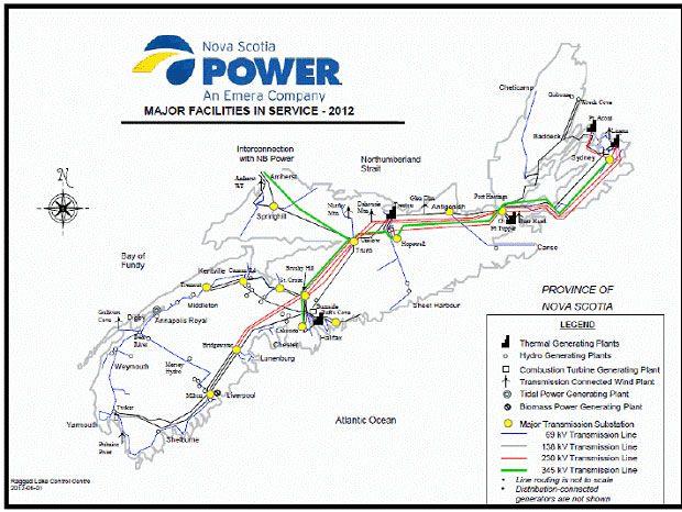 Nova Scotia Power - Major Facilities in Service 2012