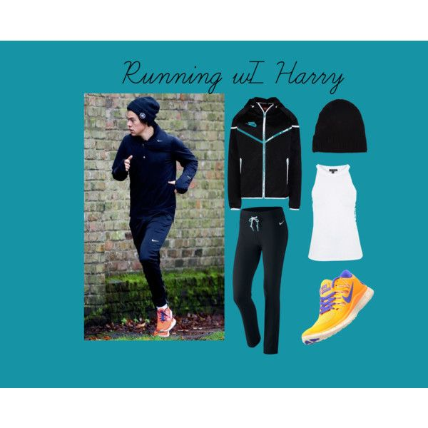 Running w/ Harry by edithtoth on Polyvore featuring Topshop, NIKE and Yves Saint Laurent