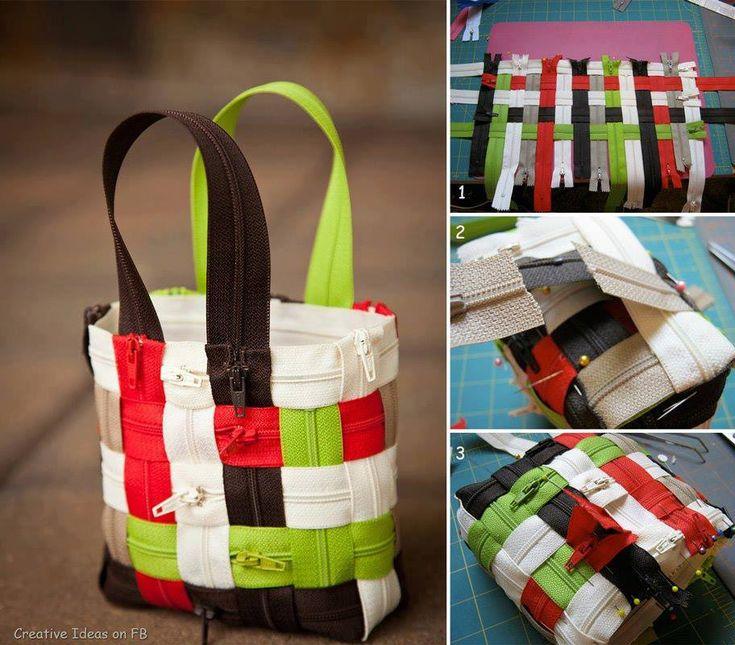 weave a zipper purse