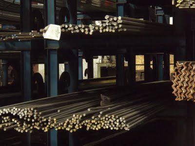 steel rods on shelves blacksmith supplies