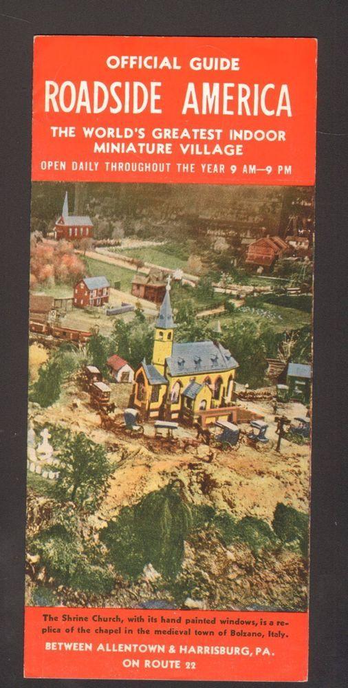 Undated Souvenir Brochure Official Guide Roadside America Shartlesville PA