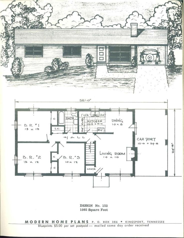 443 best images about vintage house plans 1950s on for 1950s house plans