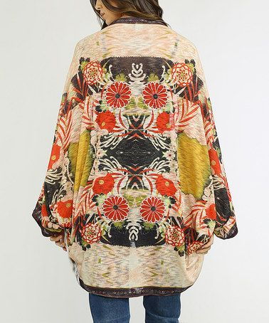 Another great find on #zulily! Wine & Yellow Floral Shawl #zulilyfinds