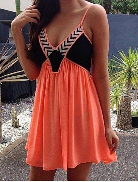 Orange & Black Sequin Embellished Sleeveless Dress, Dress, orange black sequin contrast sleeveless, Chic
