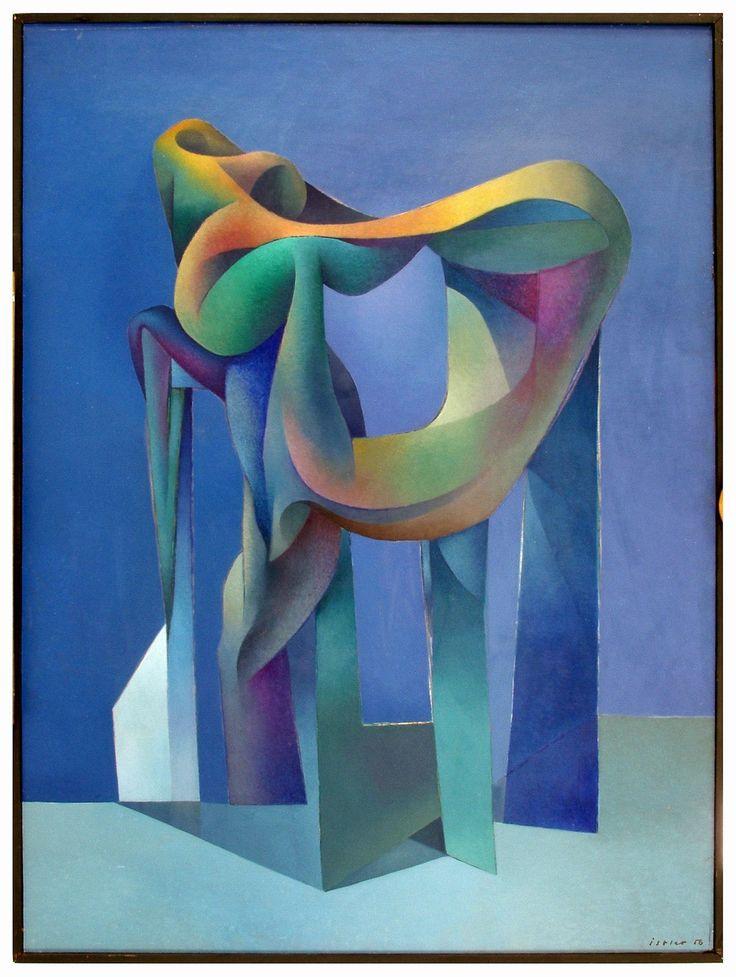 Josef Istler: Modrý objekt, 1956, olej, papír, překližka, 146 x 108 cm | na serveru Lidovky.cz | aktuální zprávy