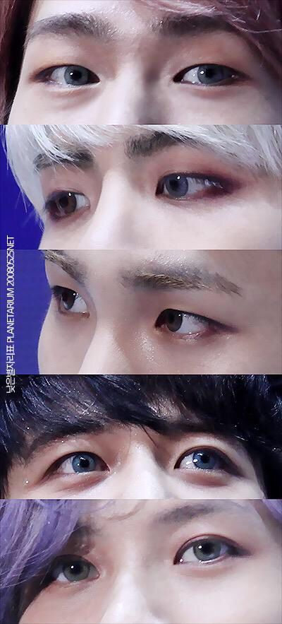 SHINee and their pretty eyes. Still don't know how I feel about the contacts for their Odd promotions.