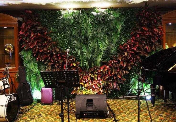 Dekorasi backdrop panggung musik