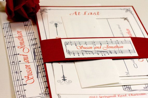 Invitation Note For Wedding: Music Notes Wedding Invitation Suite