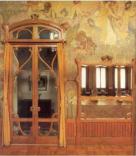 Cool If Each Door To Room Went With Time Ernesto Basile Grand Hotel Villa Igea Palermo I Love The Flowing Elegant Lines And Symbiose Of Painting