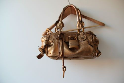 100-Authentic-CHLOE-Gold-Paddington-Shoulder-Bag-Handbag-Net-a-Porter