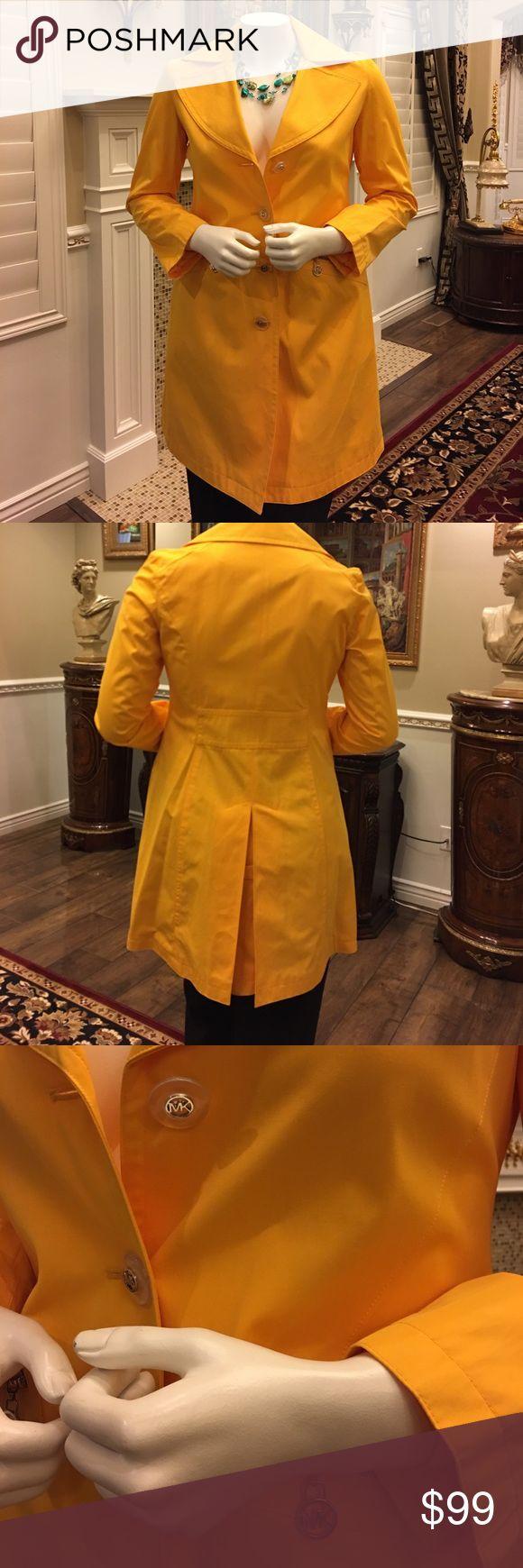 Michael Kors rain jacket Bright yellow MK jacket never worn MICHAEL Michael Kors Jackets & Coats