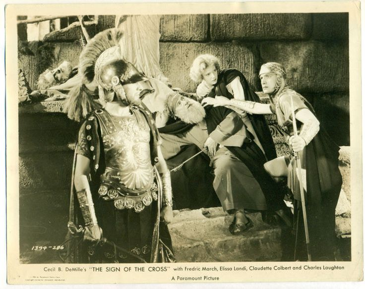 FREDRIC MARCH, ELISSA LANDI, IAN KEITH movie photo 1932 THE SIGN OF THE CROSS