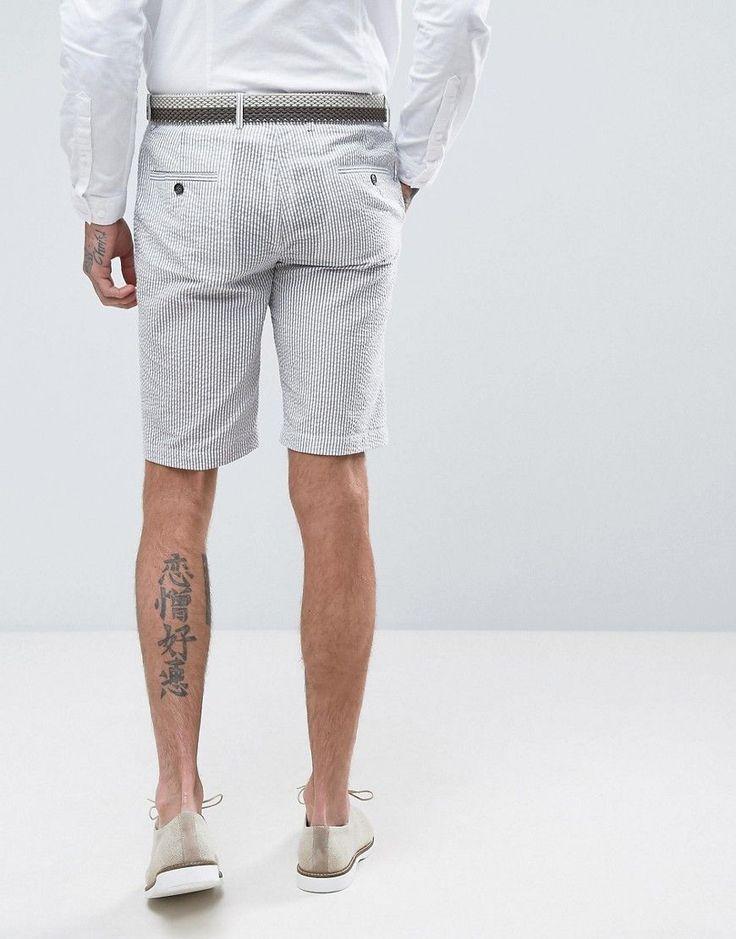 Gianni Feraud Pastel Stripe Seersucker Shorts - Green