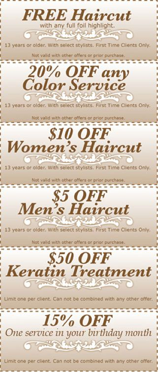 Book with Stylist Becky and receive these awesome offers for the Month of January
