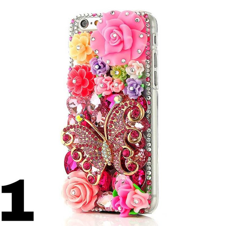 """For iPhone 6 4,7"""" Rhinestone Case New Diamond Gorgeous Clear Case by TAKIPARK on Etsy"""