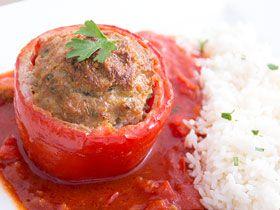 Gefüllte Paprika mit Hackfleisch | Mamas Rezepte - mit Bild und Kalorienangaben
