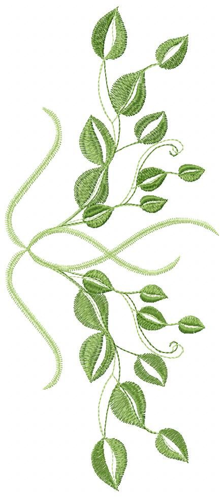 Green Leaves free embroidery 2 - Flowers free machine embroidery designs - Machine embroidery forum