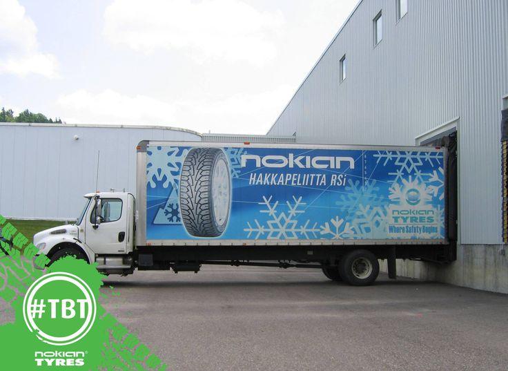 #TBT Circa 2005: #HakkapeliittaRSi graphics on one of many #Nokian delivery trucks.