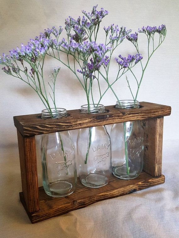 Hey, I found this really awesome Etsy listing at https://www.etsy.com/listing/471546949/rustic-wood-glass-milk-bottle-mason-jar
