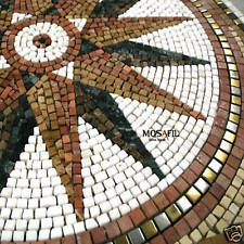 Metall Edelstahl Marmor Rosone Naturstein Mosaik Fliesen 80x80cm