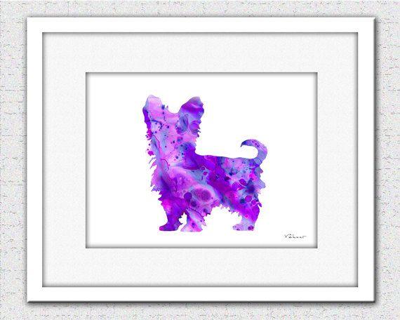 Yorkie art print Yorkshire Terrier Yorkie by FluidDiamondArt