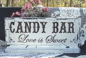 Candy buffet wedding sign... as seen on Kaboodle: Love Is Sweet, Shabby Chic Wedding, Candy Buffet, Sweet Tables, Wedding Ideas, Country Wedding, Desserts Bar, Candy Bar Signs, Wedding Signs