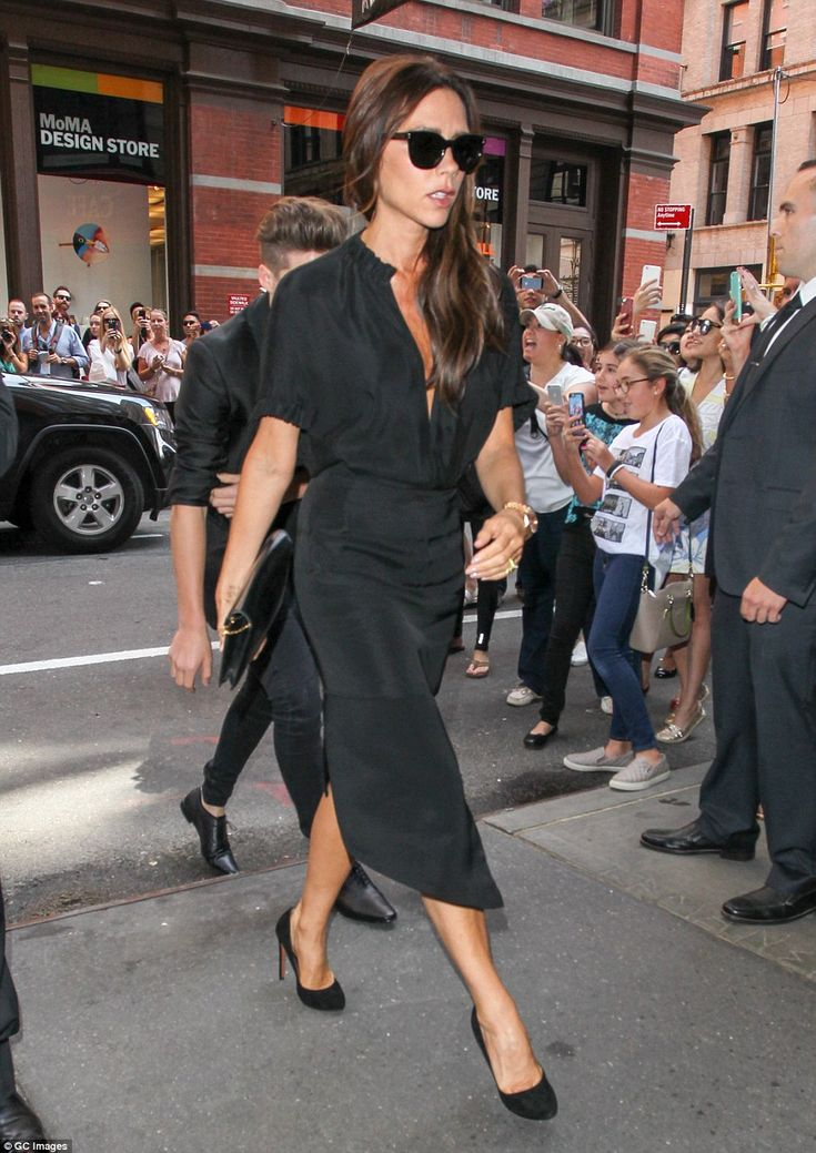 Taking it all in her stride: The former Spice Girl - who went under the moniker 'Posh' - w...