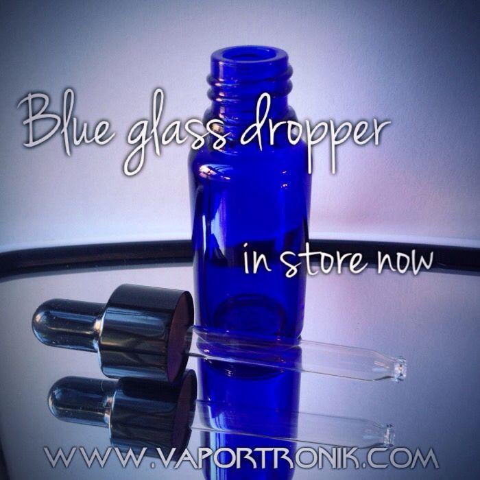 Blue glass dropper 15 ml at www.vaportronik.com  #vape #vaper #vapeon #vapelife #vapelife