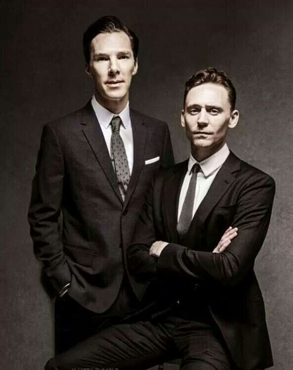 Tom Hiddleston and Benedict Cumberbatch...oh crumpets