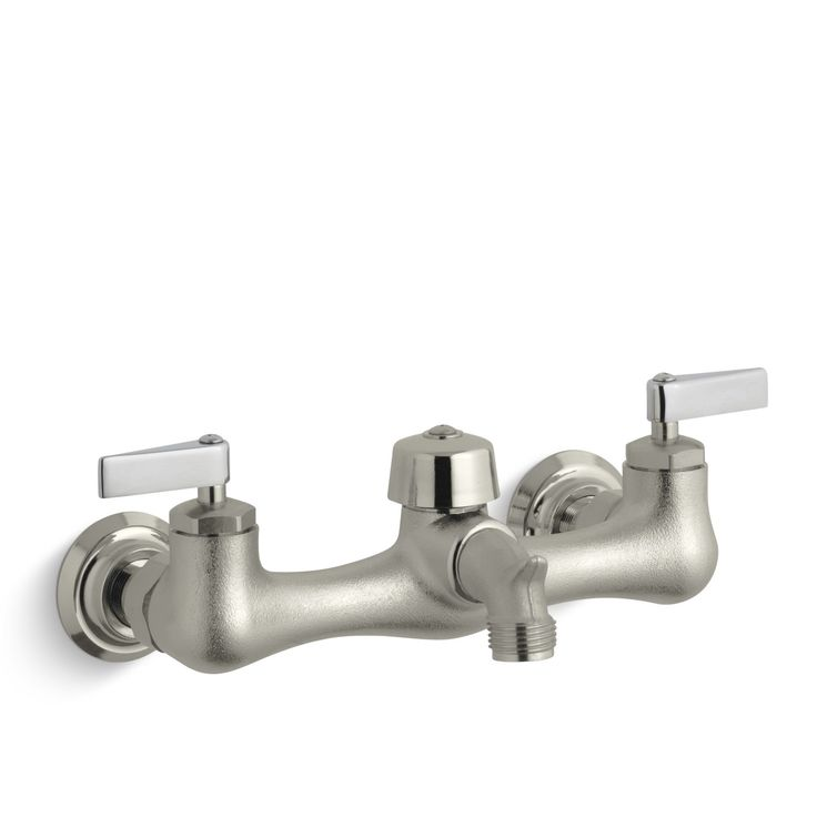 Knoxford Double Lever Handle Service Sink Faucet With Vacuum Breaker Threaded Spout Vacuums