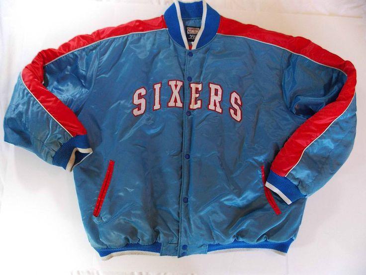 XXL 2XL Philadelphia 76ers Jacket Hardwood Classics GII Sixers Basketball Banks  #HardwoodClassics #BasicJacket