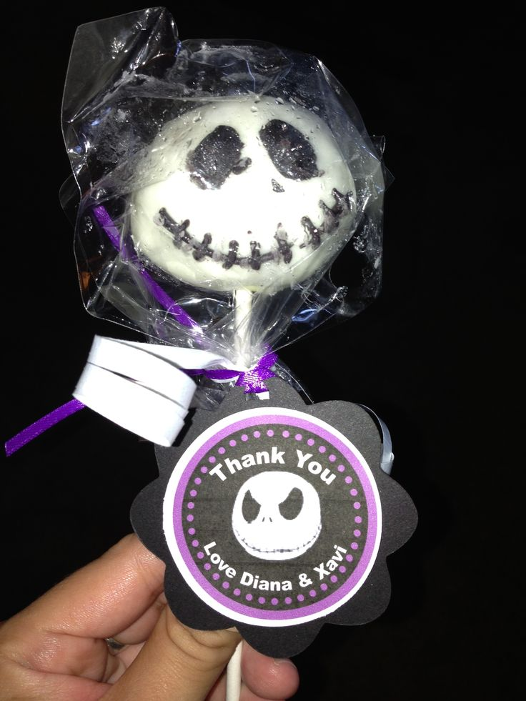 My friend Evelyn Ramirez made these for my bff's nightmare before Christmas themed baby shower