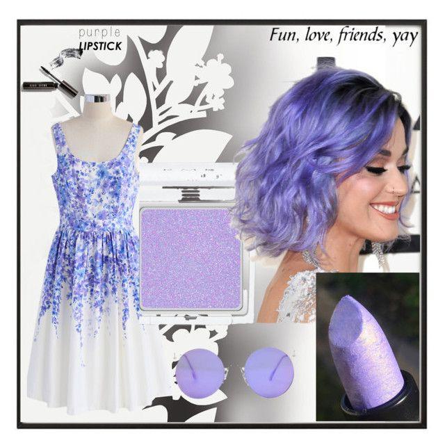 """Purple Lipstick"" by misisspoly on Polyvore featuring bellezza, By Lassen, Chicwish, RMK, Élitis e Bobbi Brown Cosmetics"