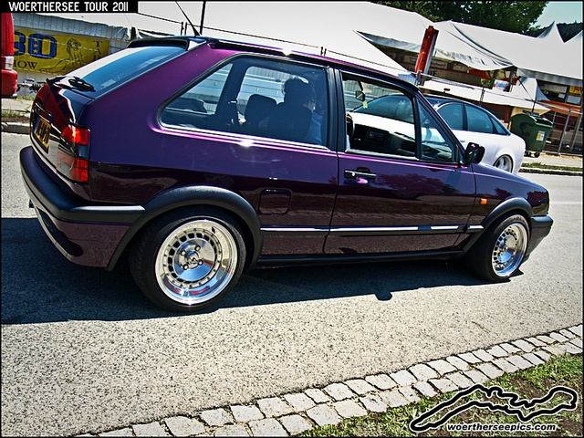 Purple VW Polo Coupe