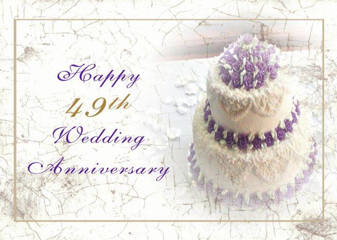 49th Wedding Anniversary Cake Card Ad Ad Wedding