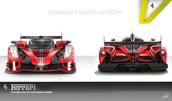 Ferrari Le Mans Cordero Lmp1 Design Proposal On Behance Ferrari Le Mans Sports Car Racing