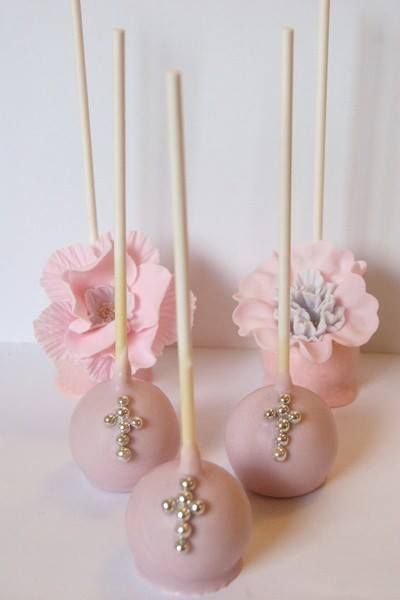 Cake Pops Ideas For Christening : 25+ best ideas about Baptism Cake Pops on Pinterest Pink ...