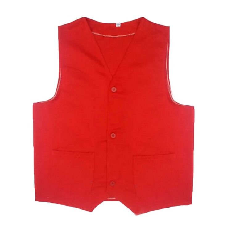 TopTie Supermarket Volunteer Uniform Vest / Security Services Workwear Vest RED-XL Made by #TopTie Color #Red. Our size runs 1-2 sizes smaller than US Women size. 2-3 sizes smaller than US Men size.. Uniform vest is made of quality polyester.. Lightweight, twill uniform vest.. Ideal as commercial team uniform, work uniform for supermarket, department stores, hardware stores, volunteer, cleaning services or security services; can be worn as casual vest.
