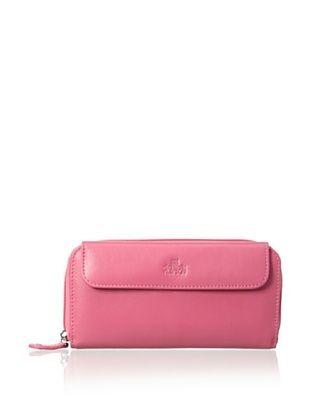60% OFF Rowallan of Scotland Women's Ella Clutch/Zip-Around Wallet, Honeysuckle Pink