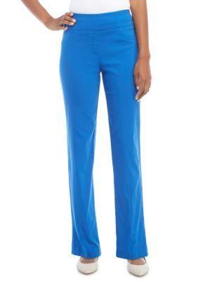 Ruby Rd Women's Key Items Millennium Stretch Pants - Blue - 14 Average