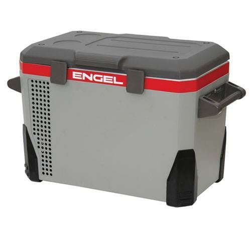 The Engel 40 Qt. Portable Fridge/Freezer (MR040F-U1) features a large capacity as well as a rugged powder coated exterior steel casing.