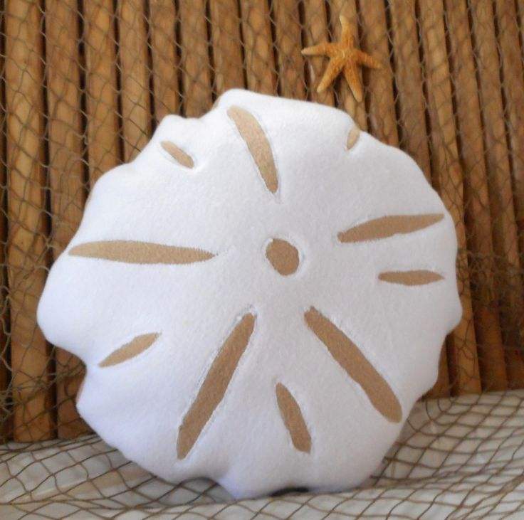 Sand dollar pillow, shell pillows, nautical pillows, sea dollar pillow, beach pillows, 3D sand dollar, nautical decor by Fleeceofnature on Etsy