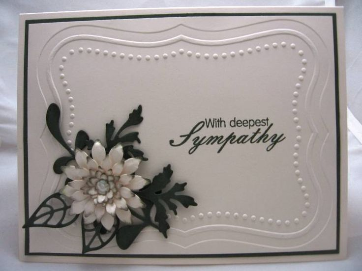Sympathy Card Ideas To Make Part - 43: Clean And Simple Sympathy Card By Scrapperdown - Cards And Paper Crafts At  Splitcoaststampers