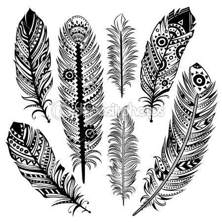 Set van etnische veren — Stock Illustration #25457559
