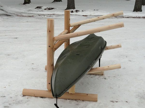 2 place kayak rack.  #kayakstorage