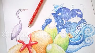 raffaelladivaio*illustrazione e creatività: QUANDO FUORI PIOVE fuori grigio, dentro colore. matite su carta, cm. 24x24, in corso (incredibilmente ancora senza titolo)
