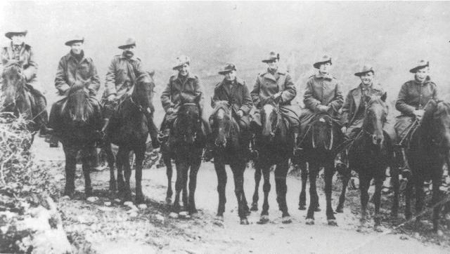 Australian Light Horse in the Snow, France 1917